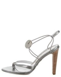 Calvin Klein Collection Metallic Leather Sandals