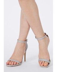 Missguided Clara Grey Strappy Heeled Sandals | Where to buy & how ...