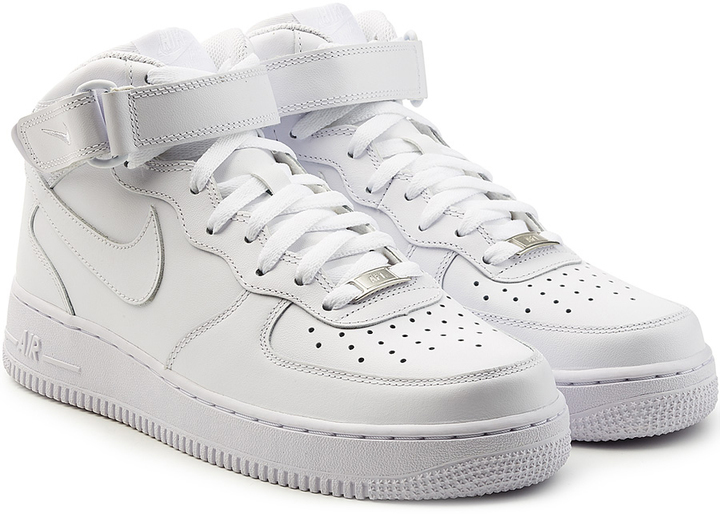Nike Air Force 1 Leather Sneakers Stylebop | GOOFASH SHOP