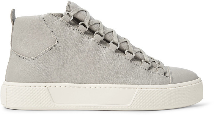 c42df759bb55 ... Balenciaga Arena Full Grain Leather High Top Sneakers ...