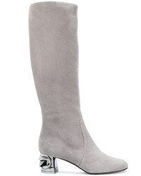 Metallic heel under the knee boots medium 4915081