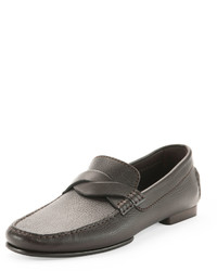 Grant twist driver leather loafer brown medium 576224