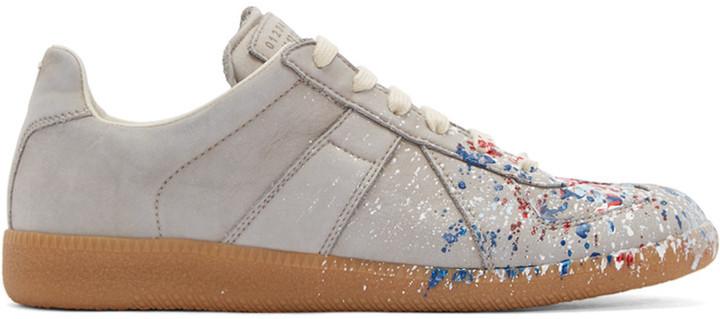 Vente Pas Cher Très Maison Margiela Splatter Replica sneakers Pas Cher En France Nouvelle Version KcwGF7x