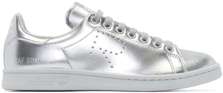 hot sale online c0a53 84836 $400, Adidas By Raf Simons Raf Simons Silver Metallic Stan Smith Sneakers