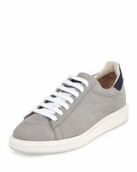 Brunello Cucinelli Suede Leather Low Top Sneakers