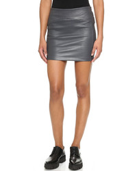 Getting Back To Square One Leather Miniskirt