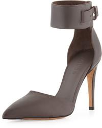 Vince Ada Ankle Strap Leather Pump Mushroom