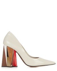 Marni Leather Block Heel Pumps