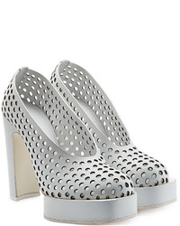 Jil Sander Perforated Leather Platform Pumps