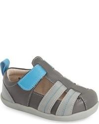 See Kai Run Infant Boys Caleb Leather Fisherman Sandal
