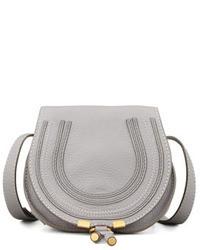 Chloe marcie small leather crossbody bag gray medium 23928