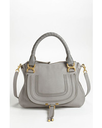 Chloe medium marcie leather satchel white medium 3640845