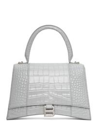 Balenciaga Grey Croc Hourglass Bag