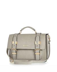 River Island Grey Large Satchel Handbag
