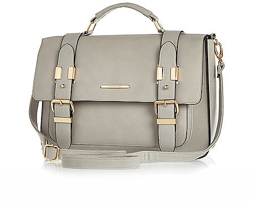 River Island Grey Large Satchel Handbag | Where to buy & how to wear