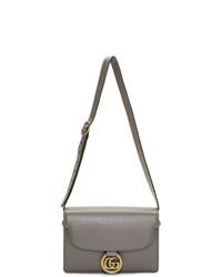 Gucci Grey Small Gg Ring Shoulder Bag