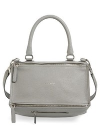 Givenchy Medium Pandora Sugar Leather Satchel Black