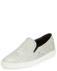 Grove crocodile embossed slip on sneaker gray medium 641176