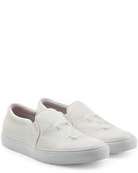 Joshua Sanders Leather Slip On Sneakers