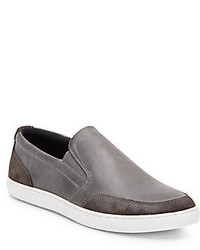 Joe's Jeans Robby Leather Suede Slip On Sneakers
