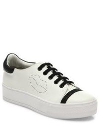 Alice + Olivia Pax Leather Platform Sneakers