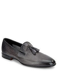 Santoni leather tassel loafers medium 581996