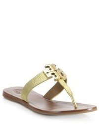 Tory Burch Moore Ii Metallic Leather Thong Sandals