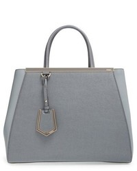 Fendi 2jours Elite Leather Shopper Grey