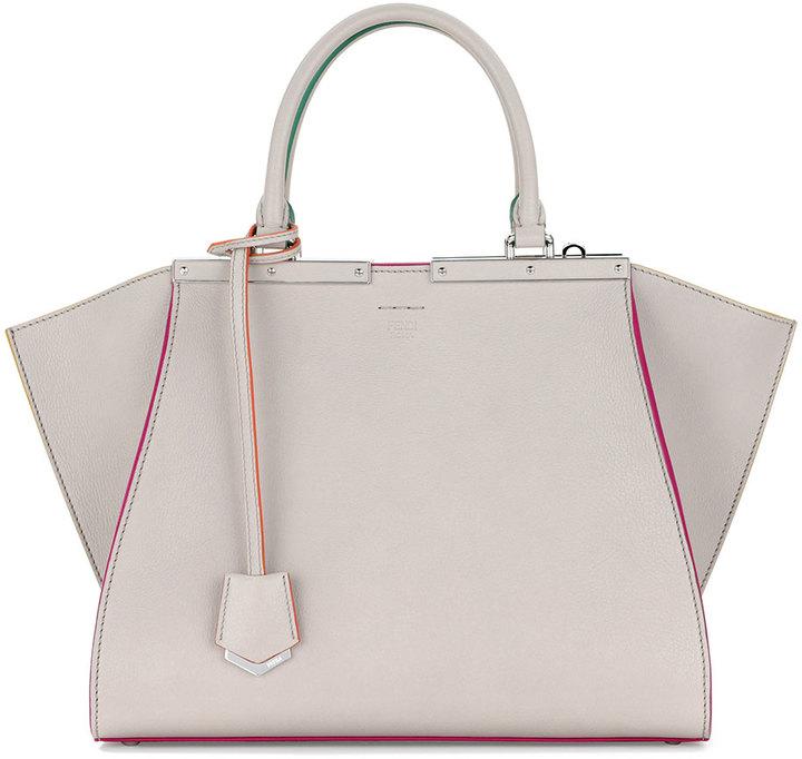 ... Fendi 3 Jours Leather Satchel Bag Gray Multi ... 971558bb28e54