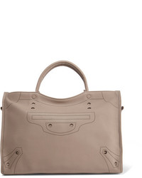 Balenciaga Blackout City Perforated Leather Tote Gray