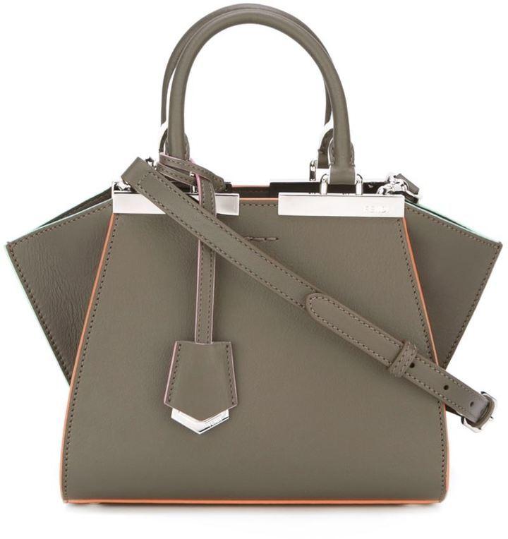 c75e317e30 ... Leather Tote Bags Fendi Mini 3jours Crossbody Bag