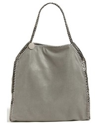 Large falabella shaggy deer faux leather tote grey medium 619023