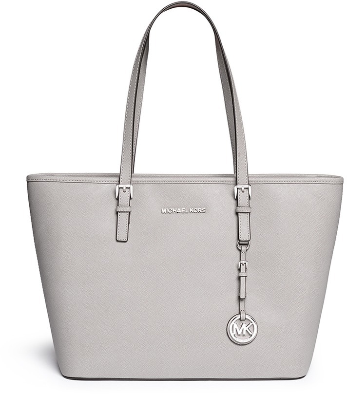 8f90a8879809 ... Michael Kors Michl Kors Jet Set Travel Saffiano Leather Top Zip Tote ...