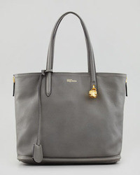 Alexander McQueen New Padlock Small Shopper Bag Dark Gray