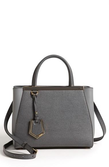 84ee1cd58ce ... Fendi Petite 2jours Elite Leather Shopper ...