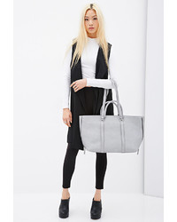 Forever 21 Side Zip Faux Leather Tote