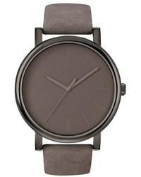 Grey Leather Watch
