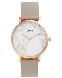 Cluse La Roche Leather Strap Marble Watch 38mm