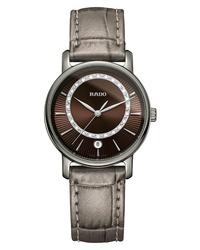 Rado Diamaster Diamond Leather Watch