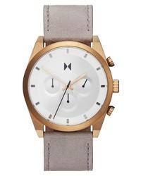 MVMT Elet Chronograph Leather Watch