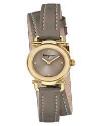 Salvatore Ferragamo Gancino Leather Watch