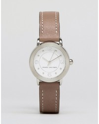 Marc Jacobs Gray Leather Riley Watch Mj1472