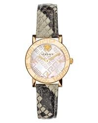 Versace Greca Glass Snakeskin Watch