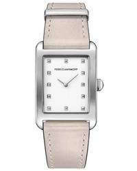 Rebecca Minkoff Mot Leather Strap Watch 27mm X 39mm
