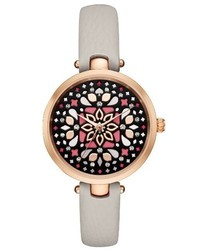 Kate Spade New York Holland Mosaic Leather Strap Watch 34mm