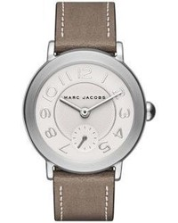 Marc Jacobs Riley Stainless Steel Metallic Leather Strap Watch