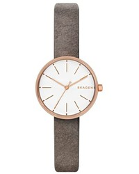Skagen Signatur Leather Strap Watch 30mm