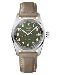 Longines Spirit Automatic Leather Watch