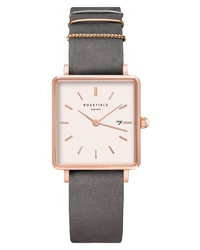 ROSEFIELD The Boxy Leather Watch