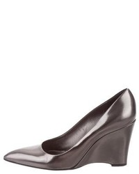 Jil Sander Metallic Leather Wedges